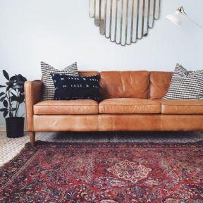 Modern leather living room furniture ideas (20)