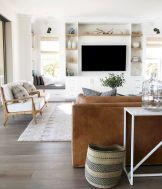 Modern leather living room furniture ideas (22)