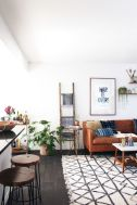 Modern leather living room furniture ideas (25)