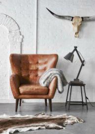 Modern leather living room furniture ideas (34)