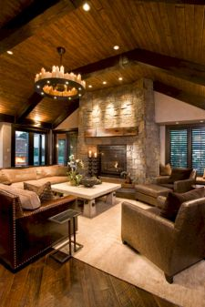 Modern leather living room furniture ideas (36)