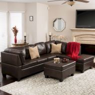 Modern leather living room furniture ideas (38)