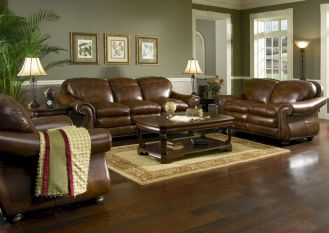 Modern leather living room furniture ideas (39)