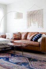 Modern leather living room furniture ideas (40)