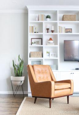 Modern leather living room furniture ideas (42)