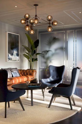 Modern leather living room furniture ideas (45)