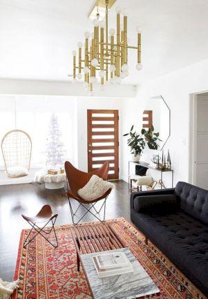 Modern leather living room furniture ideas (58)
