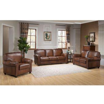 Modern leather living room furniture ideas (6)