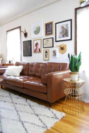 Modern leather living room furniture ideas (66)