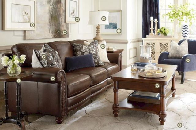Modern leather living room furniture ideas (68) - ROUNDECOR