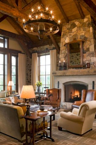 Modern leather living room furniture ideas (70)