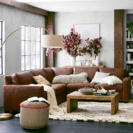 Modern leather living room furniture ideas (8)