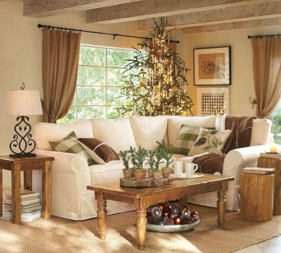 Rustic living room curtains design ideas (3) - ROUNDECOR