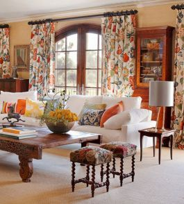 Rustic living room curtains design ideas (6)