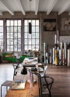 Small modern industrial apartment decoration ideas 12