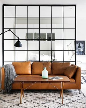 Small modern industrial apartment decoration ideas 17