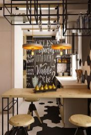 Small modern industrial apartment decoration ideas 22