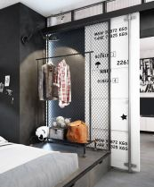 Small modern industrial apartment decoration ideas 23