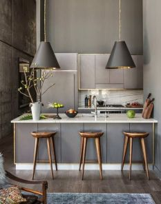 Small modern industrial apartment decoration ideas 53