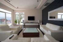 Stylish dark wood floor ideas for your living room (11)