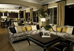 Stylish dark wood floor ideas for your living room (18)