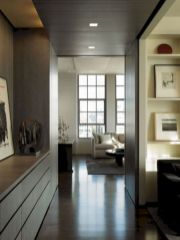 Stylish dark wood floor ideas for your living room (22)