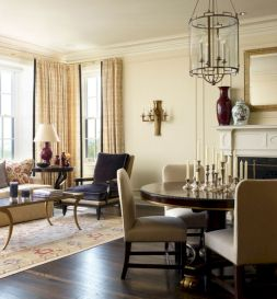 Stylish dark wood floor ideas for your living room (29)