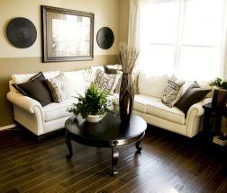 Stylish dark wood floor ideas for your living room (4)