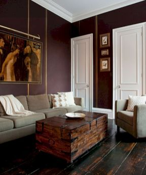 Stylish Dark Wood Floor Ideas For Your Living Room 50