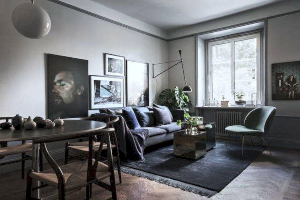 Stylish dark wood floor ideas for your living room (56)