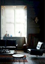Stylish dark wood floor ideas for your living room (6)