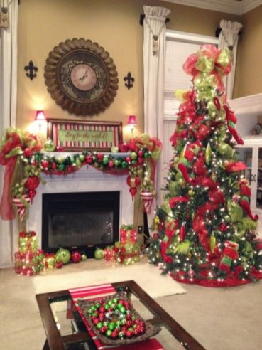 56 adorable christmas living room d coration ideas round for Decoration 56
