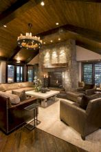 Adorable country living room design ideas 22