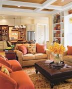 Adorable country living room design ideas 34