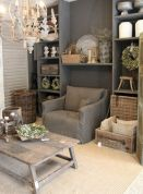 Adorable country living room design ideas 37