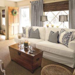 Adorable country living room design ideas 40