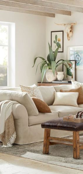 Adorable country living room design ideas 45