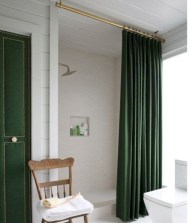 Affordable shower curtains ideas for small apartments 27