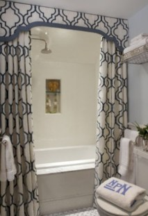 Affordable shower curtains ideas for small apartments 41