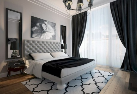 Amazing black and white bedroom ideas (19)