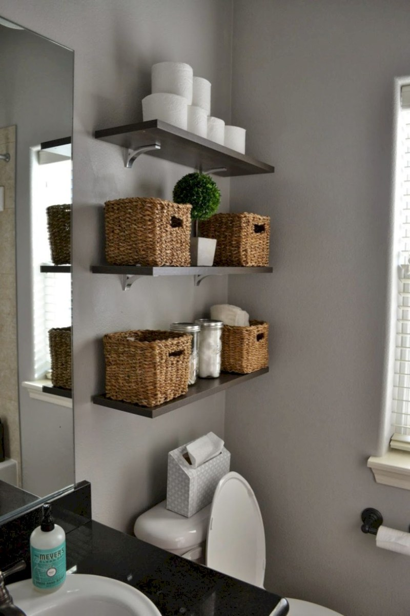 Awesome diy organization bathroom ideas you should try (22)