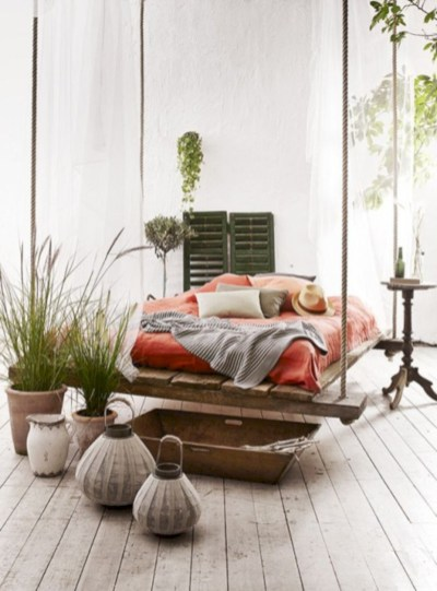 Beautiful bedrooms design ideas with swing chairs 03