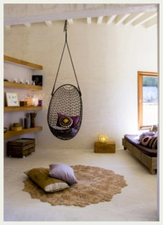 Beautiful bedrooms design ideas with swing chairs 37