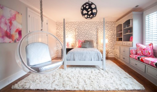 Beautiful bedrooms design ideas with swing chairs 38