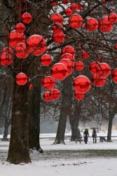Beautiful christmas decoration ideas in red domination 18