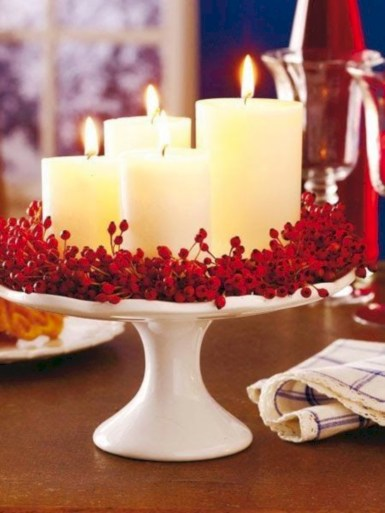 Beautiful christmas decoration ideas in red domination 22