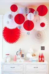 Beautiful christmas decoration ideas in red domination 41