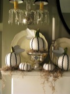 Beautiful ideas for elegant black and white halloween 30