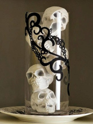 Beautiful ideas for elegant black and white halloween 54