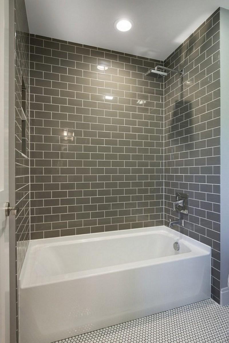 Beautiful subway tile bathroom remodel and renovation (14)